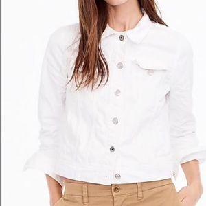 JCREW white denim jacket XS